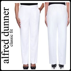 NWT Alfred Dunner White Trousers